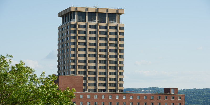 Sadler Hall from Syracuse University